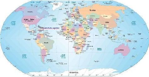 Доминикана на карте мира