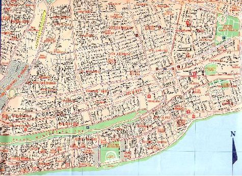 Карта запавдной части Саето-Доминго