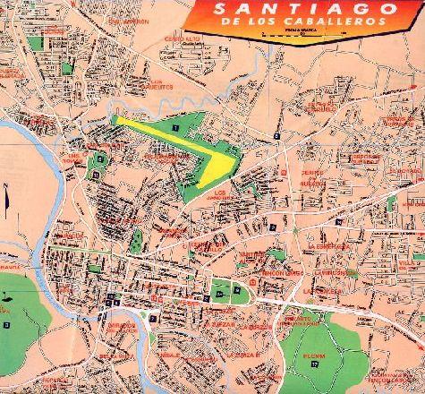 Топографическая карта г. Сантьяго