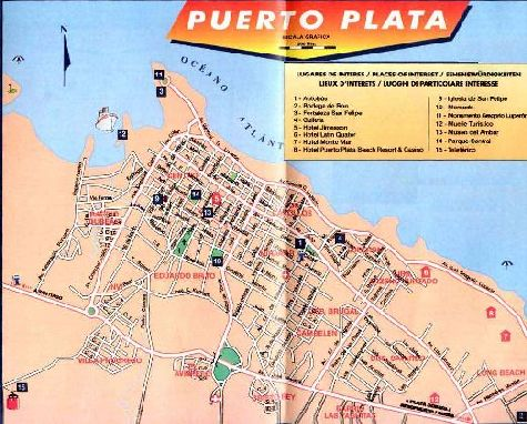 Карта города Пуэрто-Пата