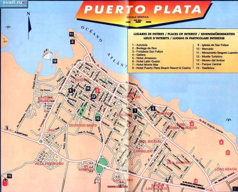 Подробные карты Пуэрто-Платы, Доминиканская республика