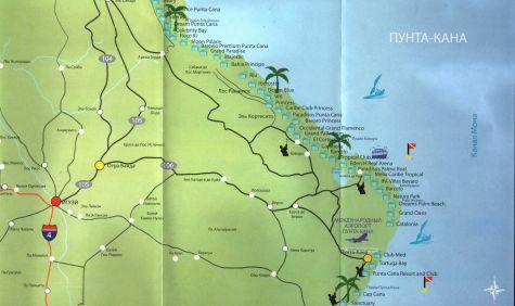 Подробные карты Пунта-Каны, Доминиканская республика