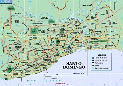 Подробная карта Санто-Доминго